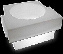 Slide Cubic Yo Light Vase Leuchtendes Weiß