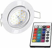 Slim LED RGB Spot Einbaustrahler 230V - schwenkbar
