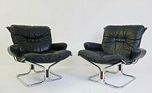 Sling Chairs mit verchromtem Metallgestell & Sitz