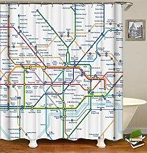 SLN Laufende Karte Der Stadtuntergrundbahn-Spur.