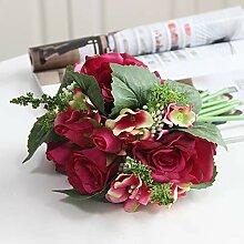 SloyBaden Künstliche Blume Rose Hochzeit Blumen