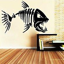 SLQUIET DIY Big Teeth Shark Fisch Wandgestaltung