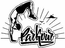SLQUIET DIY Fun sports parkour vinyl wandaufkleber