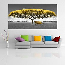SLQUIET Rahmenlose gelbe und rote Geldbaum