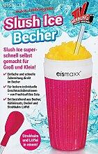 SLUSH ICE BECHER mit Strohalm-Löffel Deckel 300ml