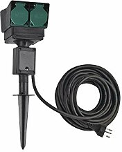 SLV elektrische Komponente 4-Fach Gartensteckdose