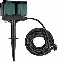 SLV elektrische Komponente GARTENSTECKDOSE 4-Fach