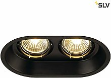 SLV LED Deckenstrahler HORN-O, rund, schwarz ,