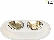 SLV LED Deckenstrahler HORN-O, weiß, rund ,
