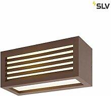 SLV LED Wandlampe BOX-L rost | effektvolle