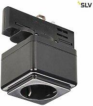 SLV STECKDOSE Indoor-Lampe Kunststoff Schwarz