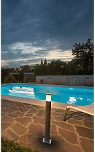 SLV Trust 60 LED Aussen-Stehleuchte Edelstahl