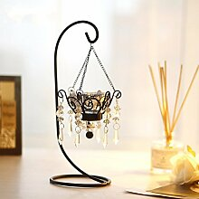 SLXTE-Metall Leuchter, hochwertige, luxuriöse, retro, romantische Hochzeit, Leuchter, Candle-Light Dinner Deko, Deko, Silber einzelne Leiter