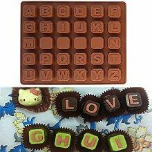 slylive 26englischen Buchstaben Schokolade