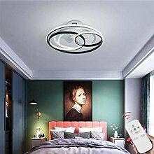 SLZ LED Deckenventilator Fan Deckenleuchte Mit Beleuchtung Dimmbar Mit Fernbedienung 52W Fan Deckenlampe Einstellbare Windgeschwindigkeit Moderne Ultra-Leise Wohnzimmer Schlafzimmer Fan Lampe,53cm