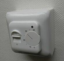 SM-PC®, Thermostat Fußbodenheizung Elektroheizung Unterputz weiß AUFPUTZ #ap830