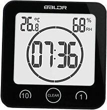 SM SunniMix Digital Thermometer Hygrometer Wanduhr