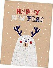 SM SunniMix Weihnachten Baumwolle Türvorhang Tür