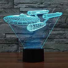 Smalody Neuheit Star Trek Nachtlicht 3D Lampe