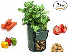 SMAR.T Smart Sisi Kartoffelpflanzsäcke (2Stück) Pflanzen Grow Staubbeutel Gemüse Pflanze Anbau Bepflanzen Staubbeutel für Garten oder Balkon