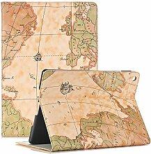 Smart Case für iPad Mini 4, elecfan ® Ultra Dünnen Leichtgewicht Book Stil Flip PU Leder Hülle Tasche Wasserdicht Case Smart Cover mit Ständer / Auto Schlaf Wach Funktion Anti Kratzer Schutzhülle für 7.9 Zoll iPad Mini 4 (iPad Mini 4 ,Gelb)