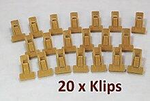 Smart-Hangers --20 Klips-- Camel / antirutsch