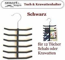 Smart-Hangers / Tuch & Krawatten Halter / Schwarz