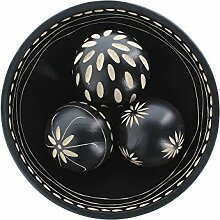 Smart Living Company Ebenholz Deko-Ball Set,