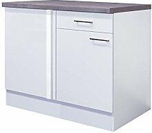 Smart Möbel Eck-Unterschrank 110 x 60 cm Weiß -