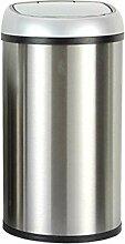 Smart Sensor Mülleimer 12 L Edelstahl gebürstet Antifingerprint elektronischer Sensor Mülleimer sanitär Eimer, 12 L (246 * 460 mm)