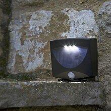 Smart Solar 07479Wandleuchte Wandtattoo 3LED S mit Radar Schwarz