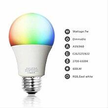 Smart Wifi Light Bulb Led Lamp 7w Rgb Rgbw Wake-up