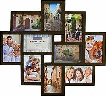 Smartfox Bilderrahmen Fotorahmen Collage für 10