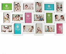 Smartfox Bilderrahmen Fotorahmen Collage in Weiß