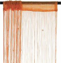 Smartfox Fadenvorhang 100 x 250 cm in Orange mit