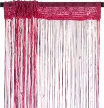 Smartfox Fadenvorhang 100 x 250 cm in Pink mit