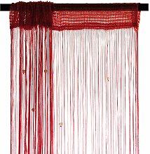 Smartfox Fadenvorhang 100 x 250 cm in Rot mit