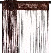 Smartfox Fadenvorhang 140 x 250 cm in Braun mit