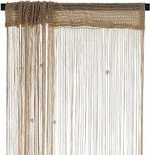 Smartfox Fadenvorhang 140 x 250 cm in Gold mit