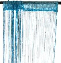 Smartfox Fadenvorhang 140 x 250 cm in Hellblau mit