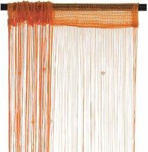 Smartfox Fadenvorhang 140 x 250 cm in Orange mit