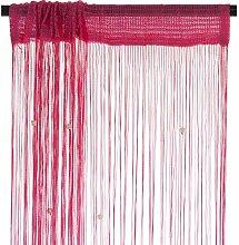 Smartfox Fadenvorhang 140 x 250 cm in Pink mit