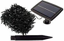 Smartfox LED Solar Lichterkette für Außen mit 300 LEDs, 30,5 Meter, Wasserdicht, Lichtsensor, Leuchtfarbe: Warmweiß