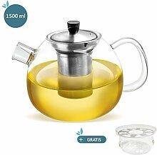 smartpeas Teekanne aus Glas – 1500 ml