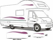 Smarts-Art Camper Van Wohnmobil Vinyl Grafiken Aufkleber Set Wohnmobil-Wohnwagen/Pferdeanhänger Set6