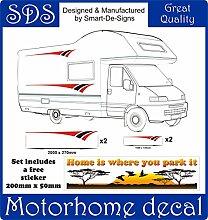 Smarts-Art Wohnmobil-Aufkleber aus Vinyl für Wohnmobil, Wohnwagen, Wohnanhänger, Pferdeanhänger, 2Stück