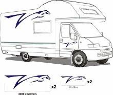 Smarts-Art Wohnmobil Vinyl Grafiken Aufkleber Set Camper Van Wohnmobil-Wohnwagen/Pferdeanhänger Set1