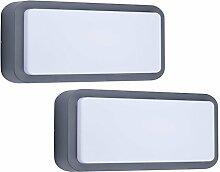 SMARTWARES 2er-Set LED Außenwandleuchten /