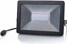 Smartwares LED Fluter Slim, Metall, schwarz, 6 x