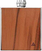 SmartWoods Taschenflasche, Edelstahl, Apfelbaum